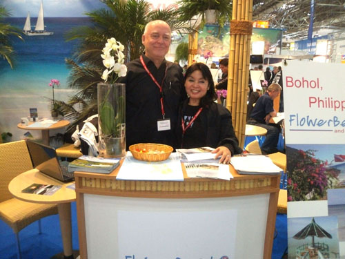 Werner and Flo from FloWer Beach Resort at boot 2012 diving show