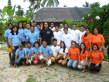 flower beach staff from scuba diving resort in bohol, philippines