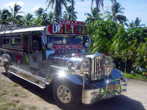 Typical filipino jeepney