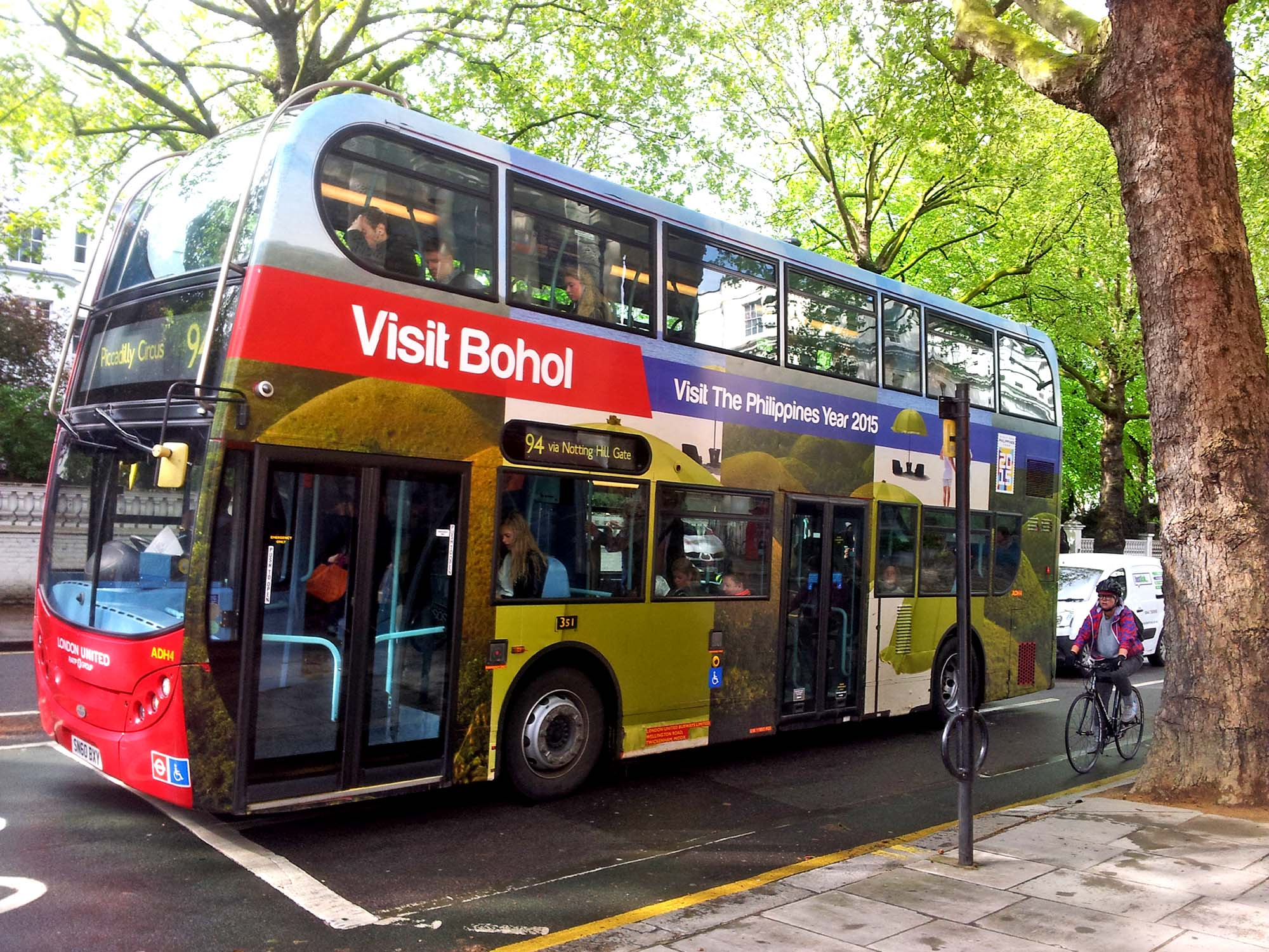 Visit Bohol Red London Double Decker Bus