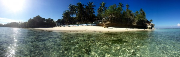 Bohol beach stunning panoramic photo
